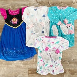 3T footed sleeper nightgown frozen pajamas